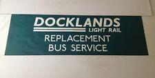 """Rainham Bus Blind 97(42"""") Docklands Light Rail Replacement Bus Service"""
