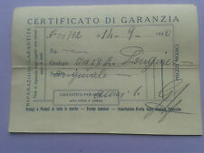 LONGINES Certificato di Garanzia 50´S Guarantee Garantie OROLOGERIE SVIZZERE