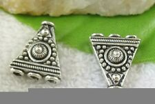 30pcs Tibetan silver triangle 3 to 1 end beads FC10169