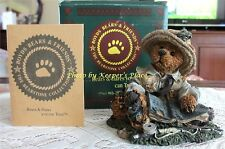 Boyds Bear Bearstone OTIS THE FISHERMAN Collectors Figurine 1994 w/ COA & Box