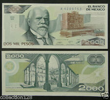 Mexico Paper Money 2000 Pesos 1987 UNC
