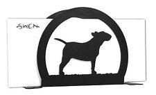 Swen Products Bull Terrier Dog Black Metal Letter Napkin Card Holder