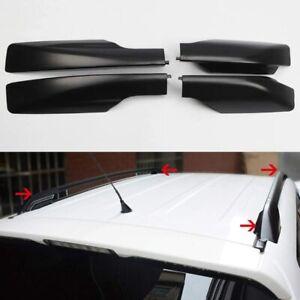 Black Roof Rack Cover Rail End Shell Cap 4PCS Fit for Toyota RAV4 2006-2012