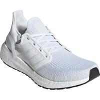 Adidas Womens Ultraboost 20 White Knit Running Shoes 8.5 Medium (B,M) BHFO 6880