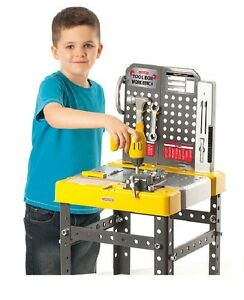 Casdon Tool Box Workbench DIY Young Builder Screws Hammer Role Play Children Kit