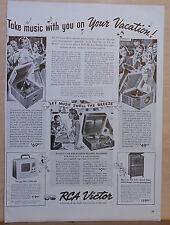 1939 magazine ad for RCA radio & phonographs - models 0-50, 0-10, U-50, VA-22