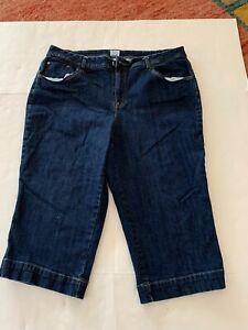 JMS Stretch Classic Capri Jeans Womens Plus Size 22W Blue Denim Just My Size