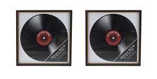2 × Record Vinyl Album LP ~ Wall Display Frame ~ Brand New ~ Retro Music Art
