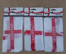 3x England  st George FLAG Bunting Banner football world cup party