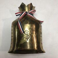 Money Bag ingot Paperweight Piggy Bank Bronze 5 1/2 H X 4 1/2 W
