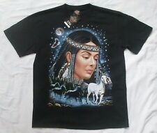 Native American Woman and Horses XL t-shirt