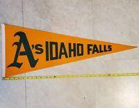 "Pioneer League Idaho Falls A's Vintage Defunct 1982 Baseball Pennant 30"" RARE"