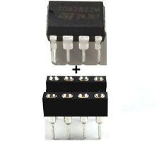 5PCS STMicroelectronics TDA2822M TDA2822 + Sockets - Dual Audio Amplifier New IC