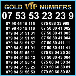 VIP Gold Mobile Number SIM Card Easy Platinum Golden Numbers Business Diamond EE
