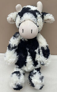 Jellycat Medium Bashful Cow Calf Baby Soft Toy Comforter Black White Soother