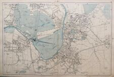 "1899 Antique Map; Kingston, Hampton - Bacons Large Scale London Atlas. 4""=Mile"