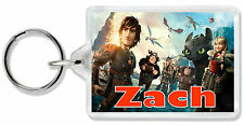 Personalised How To Train Your Dragon Keyring/ Bag Tag - Choose any name!