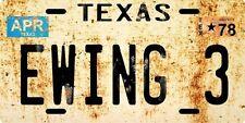 J.R. Ewing 3 Dallas TV Show 1978 Texas Nostalgic License plate