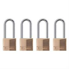 Master Lock 140Qlh Wide Brass Padlocks, 4 Pack