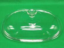 Pyrex F14C Replacement Glass Lid Fits Corning 4 qt Oval Casserole Dish Excellent