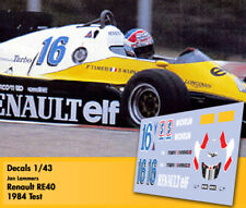 Decals 1/43 - F1 - Jan Lammers - Renault RE40 - Test 1984