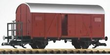 PIKO G SCALE DR IV 2-AXLE BOXCAR WITH BRAKE PLATFORM | BN | 37907