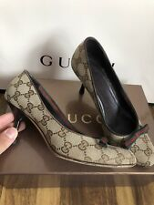 100%ORIG GUCCI TRICOLOR PUMPS HIGH HEELS GG MONOGRAM GR.35.5 C NEUPREIS 550€