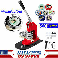 44mm/1.75in Diy Button Maker Badge Punch Press Machine with 500 Button Parts New