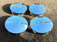 SET OF 4 DODGE 2.5 INCH CHROME CENTER WHEEL HUB COVER CAPS RIM EMBLEM LOGO New