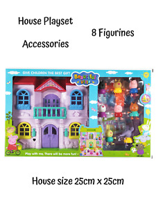 Beautiful Villa Peppa Pig Family House Furniture Figurines Playset Childrens Toy