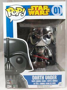 Star Wars Funko Pop - Darth Vader (Chrome) - Blue Box - No. 01