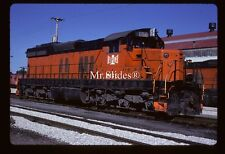 Original Slide B&LE Bessemer & Lake Erie SD18 856 In 1989 At Greeville PA