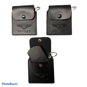 Genuine Bentley Leather Keyring Key Tracker Fob Pouch Holder Button Official New