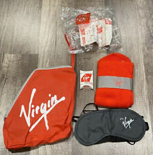 VINTAGE VIRGIN AIRLINES TRAVEL ACCESSORIES GOODY BAG ZIPPER POUCH AIRLINE ISSUED