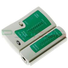 TESTER di Rete ethernet RJ45 / telefonico RJ11 RJ12 per cavo Lan plug Adsl patch
