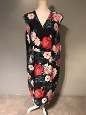 Calvin Klein 22w Floral Print Sheath Dress Scuba Knit