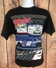 Vintage Rusty Wallace Nascar Miller Racing #2 T-Shirt Mens L NWOT