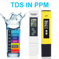 Digital LCD PH Meter Pen & TDS EC Water Purity PPM Filter Temperature Tester Set