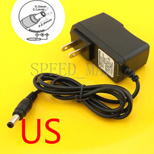 DC 3V 1A Power Supply AC Converter Adapter US plug charger  5.5*2.1 3W 1m