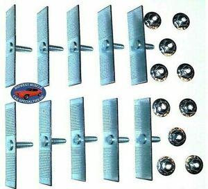"""GM 1/2""""-2-1/2"""" Body Fender Door Belt Trim Moulding Molding Push In Clips 10pcs Q"""