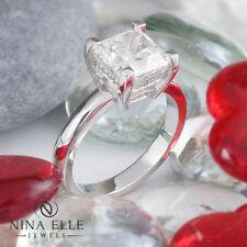 3.18CT Sqaure Cut Radiant Diamond Engagement Ring RAD111