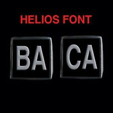 Stainless Steel BACA 2 Piece MC Club Biker Ring Set Helios font Custom size