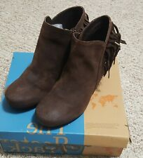 WOMENS OFF THE BEATEN TRACK OTBT ANKLE BOOTIE FOLKLORIC COCCO POWDER  IN BOX 8.5