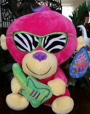 Sugarloaf monkey plush pink zebra glasses w/green guitar yellow accents Crane