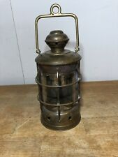 Vintage Copper Ship Lantern Cover Unwired For Lamp