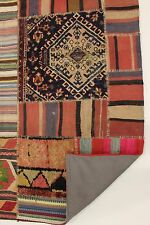nomades patchwork délavé look antique PERSAN TAPIS tapis d'Orient 2,65 x 1,90