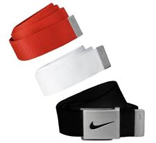 90a9d362a1 NIKE GOLF 3 IN 1 WEB CANVAS BELT PACK BLACK RED WHITE ADJUSTABLE UP TO 42