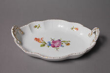 Ludwigsburg bunte Blume ovale Schale mit Griffen L. = ca. 18,5 cm #1