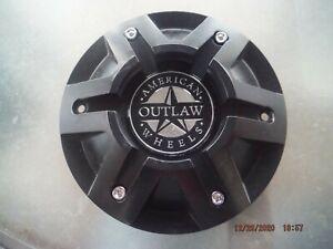 American Outlaw custom wheel matte black center cap CAP5262-20