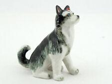 Craft Miniatures Collectible Ceramic Cute Alaskan Dog Figurine Animals